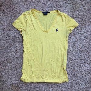 Ralph Lauren Logo Women's Sport Shirt Yellow Med